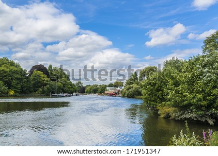 River Thames and landscapes around Richmond, UK