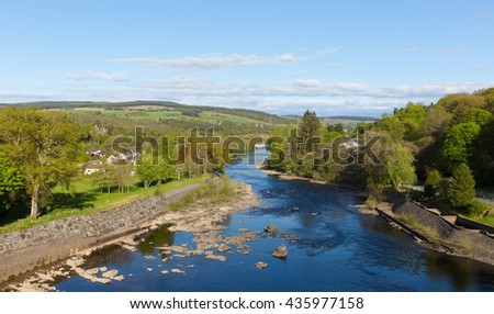 River Tummel Pitlochry Scotland UK in Perth and Kinross popular tourist destination in summer
