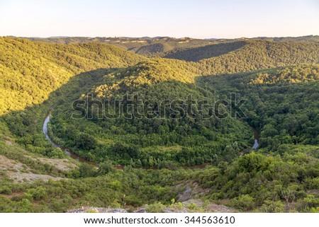 River Veleka in Strandja mountain Bulgaria - stock photo