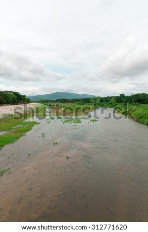 River View in Lampang,Thailand - stock photo