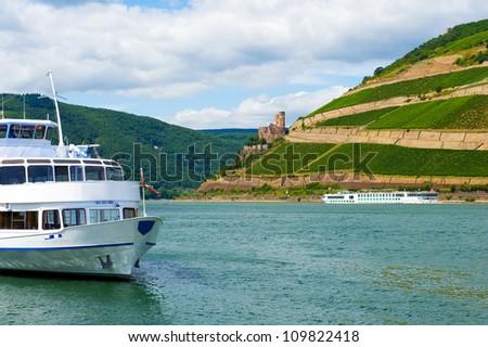 riverboat on Rhein - Germany - stock photo