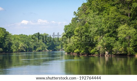 Riverside at the Chattahoochee river - stock photo