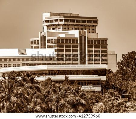 Riverside, Jacksonville, Florida, in Sepia - stock photo