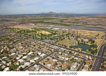 Riverview Park and Golf Course in Mesa, Arizona - stock photo