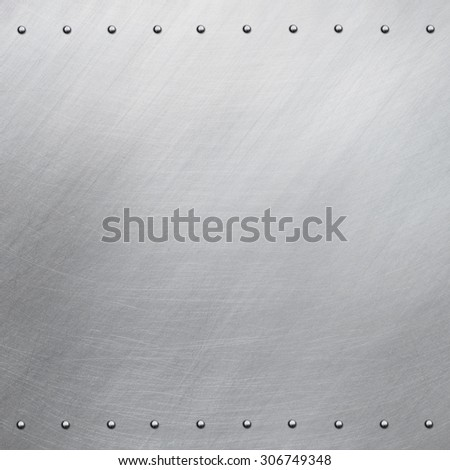 Riveted aluminum background
