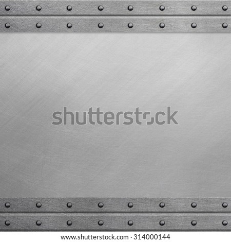 Riveted metal frame - stock photo