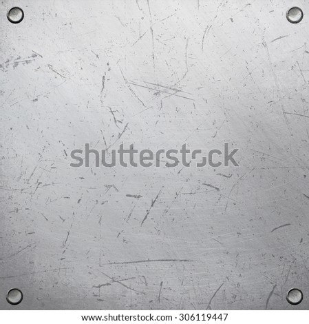 Riveted metal plate