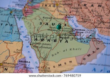 Riyadh Pinned On Map Saudi Arabia Stock Photo Shutterstock - Riyadh map