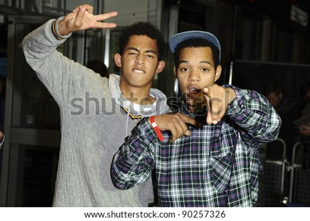 Rizzle Kicks arriving for the 'Demons Never Die' premiere at the Odeon West End, Leicester Square, London. 10/10/2011 Picture by: Steve Vas / Featureflash