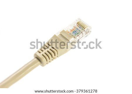 RJ45 connector isolated on a white background