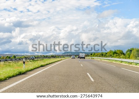 road against the sky - stock photo