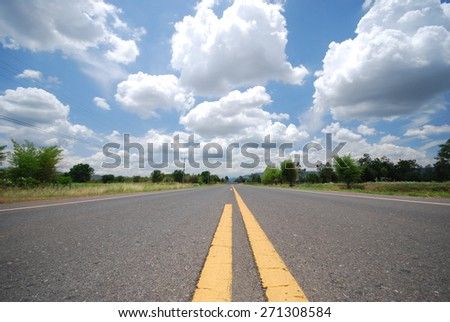 Road and cloud.