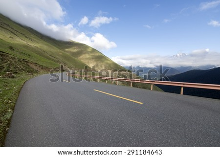 Road and mountain background