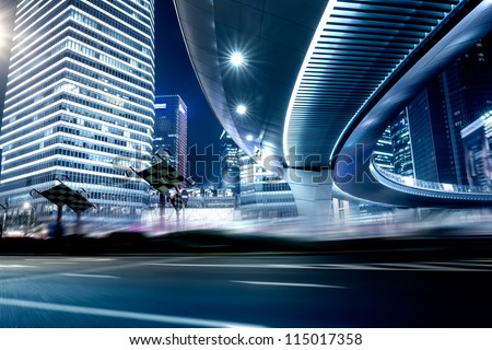Road and urban background - stock photo