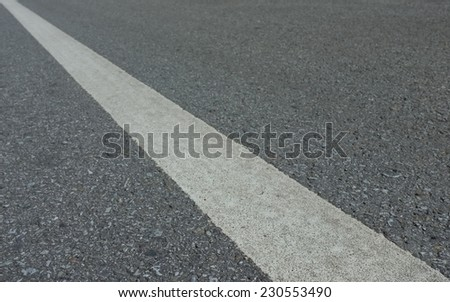 Road asphalt  texture with  lines white  stripe - stock photo