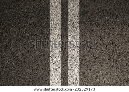 Road asphalt texture with separation lines