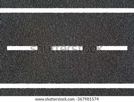 Road asphalt with  white stripe