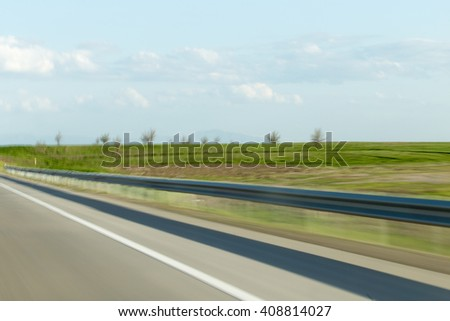 road at a speed of