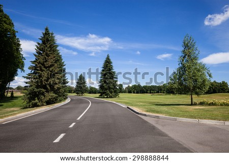 Road at city recreation area