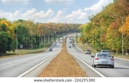 Road. Autumn nature