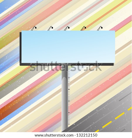 Road banner over speedy road template.  Raster version. - stock photo