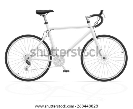 road bike with gear shifting illustration isolated on white background - stock photo