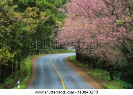 road blurred background