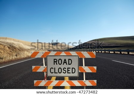 Road close traffic sign - stock photo