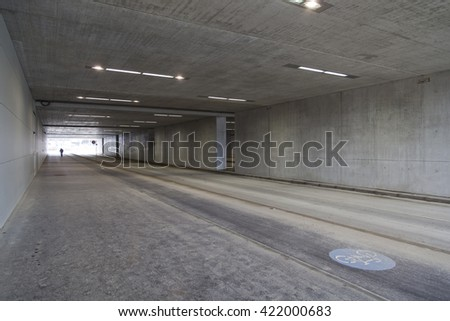 road concrete tunnel