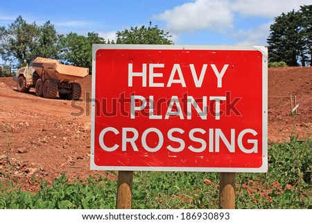 Road construction site warning sign