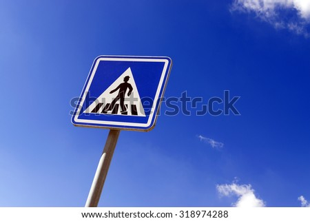 Road crossing sign