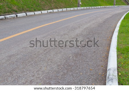 Road curve Empty