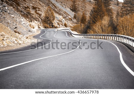 road curves - stock photo