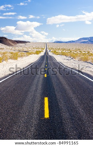 road, Death Valley National Park, California, USA