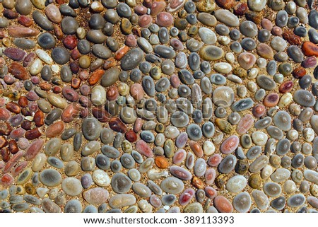 road from small stones. decorative pebble background