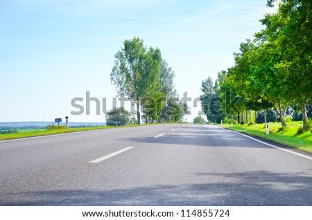 Road in Austria - stock photo