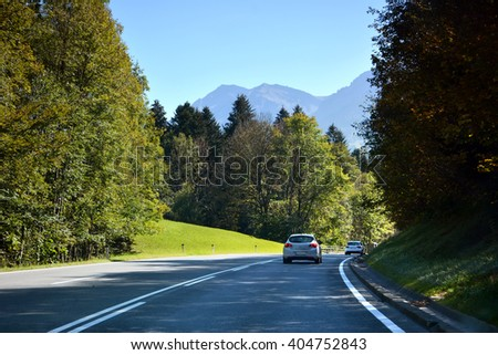 Road in Austria Alps, Europe