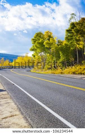 Road in Colorado - stock photo