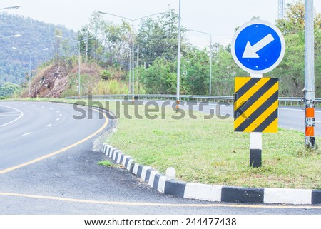 Road in countryside background