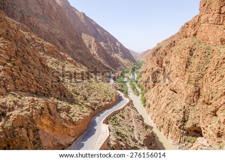 Road in Dades Gorges, Morocco - stock photo