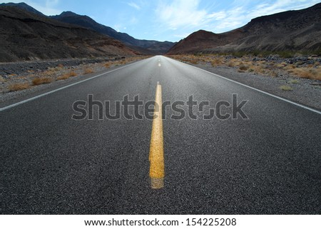 Road in Desert - stock photo