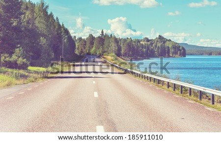 Road in Finland - stock photo