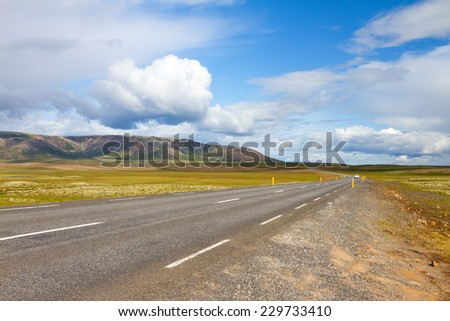 Road in Iceland - stock photo