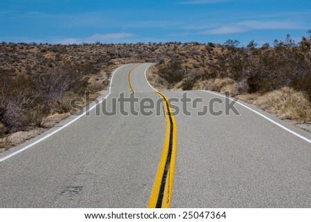 Road in Joshua Tree National Park - stock photo