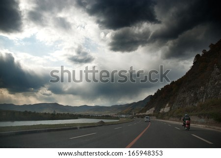 road in mountain, Jilin Province, China