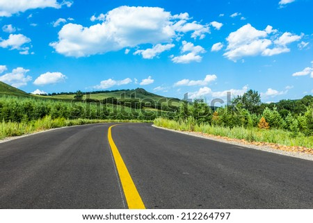 road in mountains