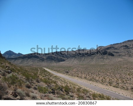 Road in Nevada - stock photo