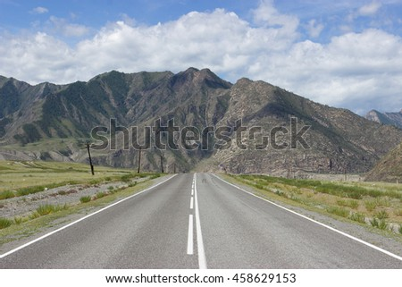 Road in the mountains.