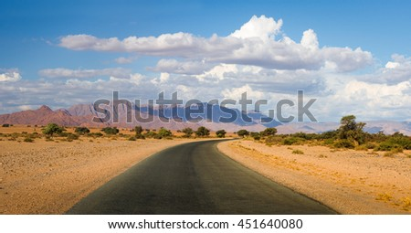 Road in the Namibian desert