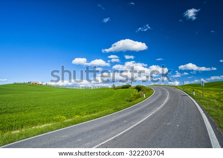 Road in the nature